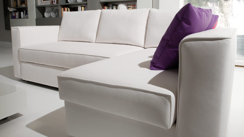 Convertible CDI Collection Plaza Sofa Bed White 2