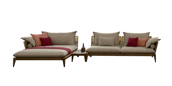 Cruise teak outdoor corner sofa