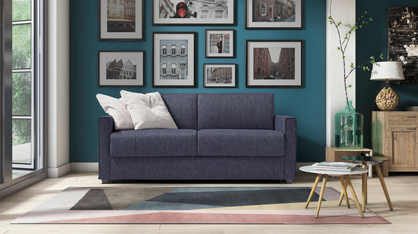 DALTON-MENO Sofa Bed 2 seater with metal base and double bed 2