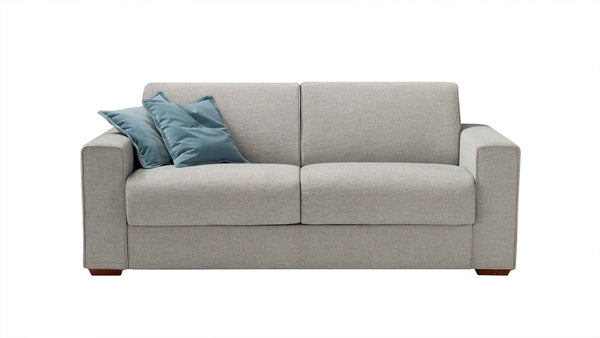 DALTON-PIÙ Sofa Bed 2 seater with metal base and double bed 2