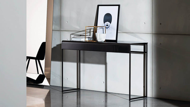 Nido Console with top in clear or lacquered glass 3