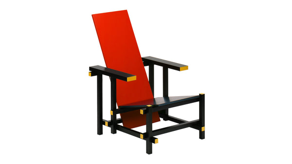 Rietveld Red Blue Armchair RT33