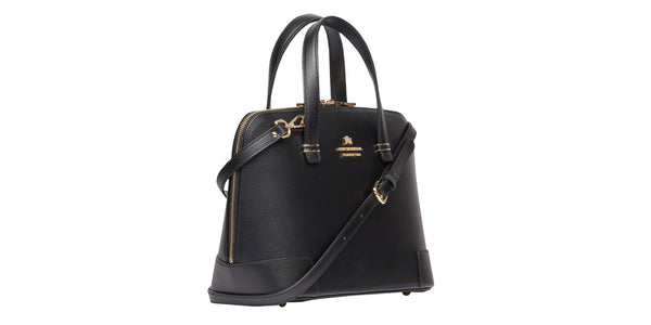 Bella shopping bag with metal finishes