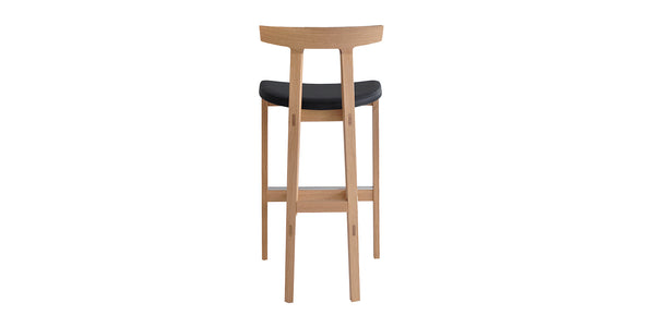 TORII STOOL IN WOODEN FRAME - Design Made in Italy
