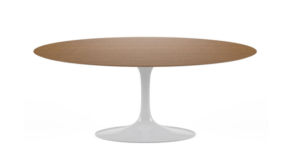 Tulip Oval Dining table in lacquered aluminum base