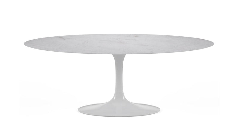 Tulip Oval marble dining table for indoor and outdoor 1
