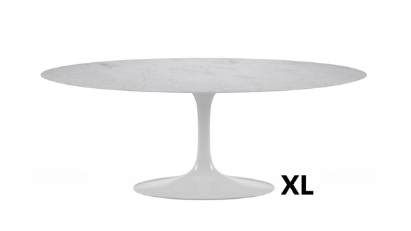 Tulip Oval XL Table à manger plateau en marbre