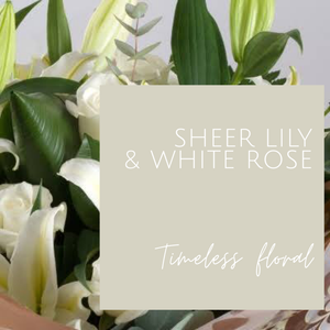 Sheer Lily & White Rose