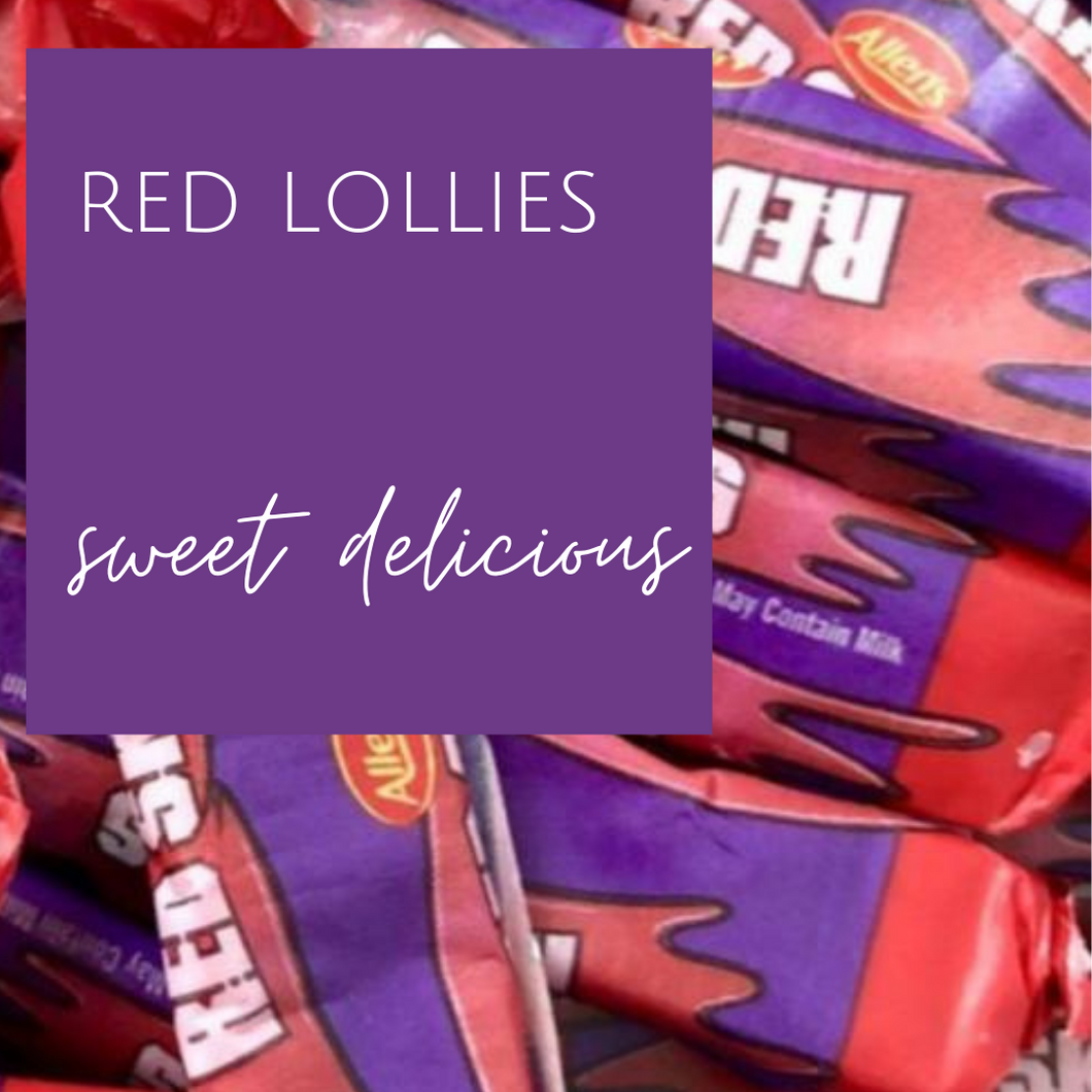 Red lollies