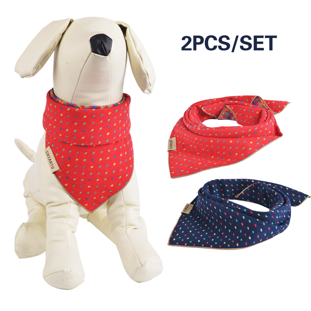 2PCS/Set Pet Bandana Triangle