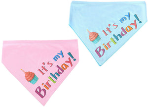 2 Pcs/Pack Birthday Bandana