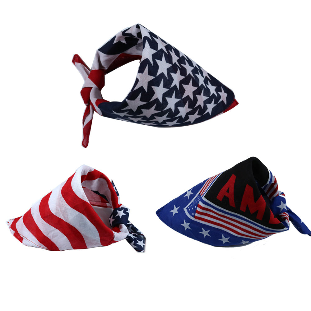 Cotton Bandana Collar (USA Independance Day)