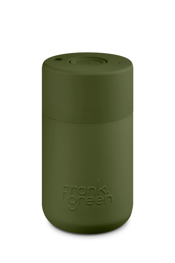 12oz Reusable Cup. Kahki