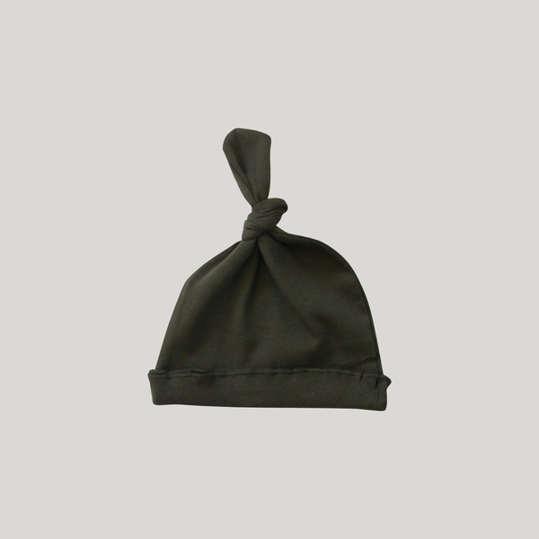 Knotted Hat. Olive