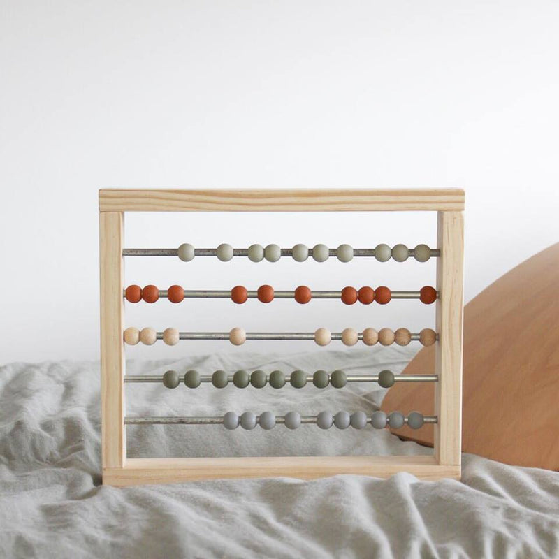 Large Abacus. Peach + Sage