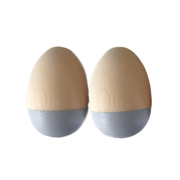 Egg Shakers. Grey