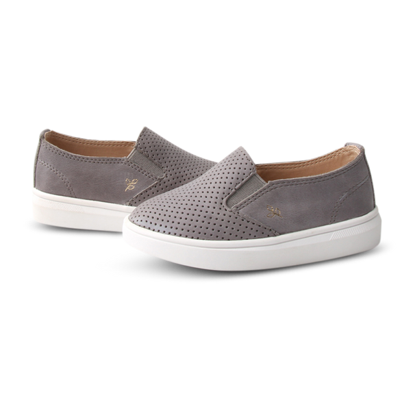 Ryder Slip-On. Ash. Hard Sole - Little Big