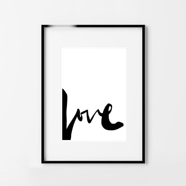 Typography Print. Love Word