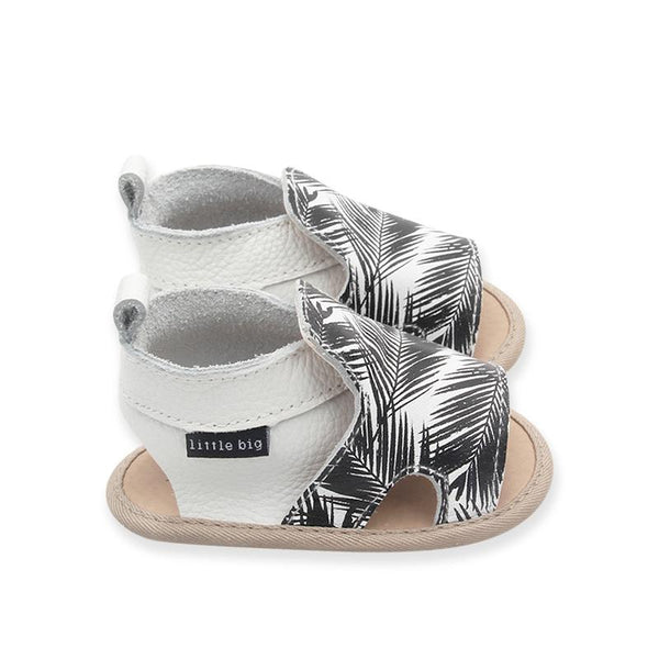 Cut Out Sandals in Milk + Palm - Little Big