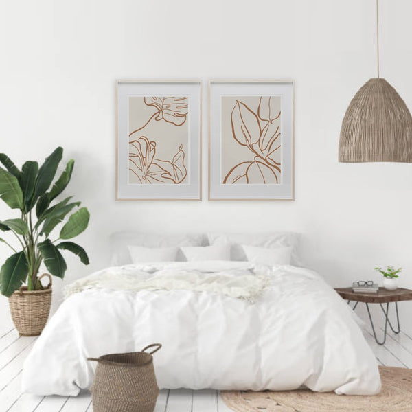 MONSTERA FICUS.Sienna. Set of 2