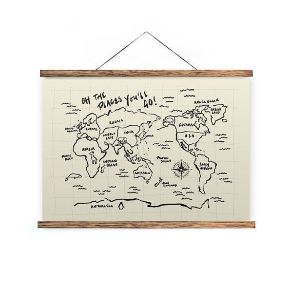 World Map. Oh the places you'll go