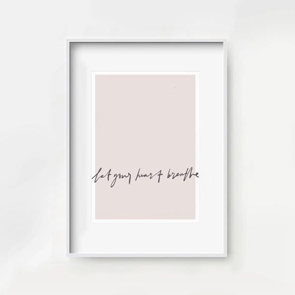Let your heart breathe. Blush