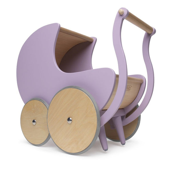 Wooden Pram + Walker. Lavender