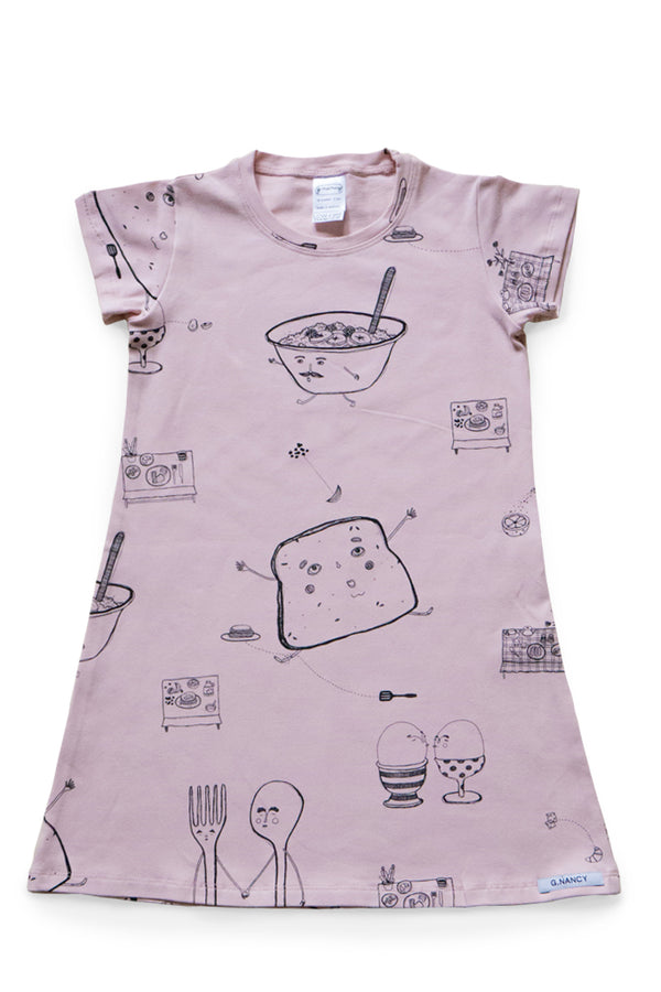Breakfast Summer Nightie. Rose