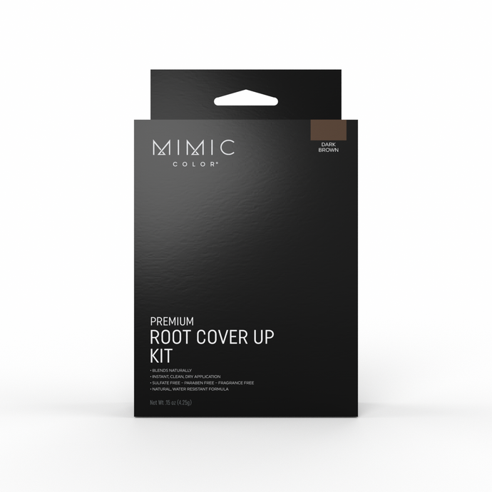 Mimic Color Root Cover Up Kit - Dark Brown - MimicColor