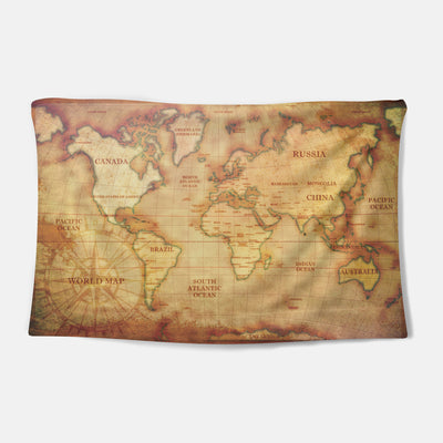 Explorer's Map Tapestry