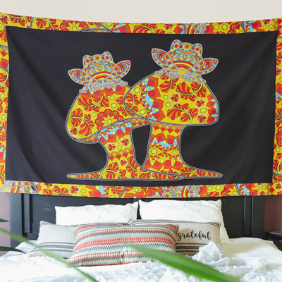 Psychedelic Frogs Tapestry