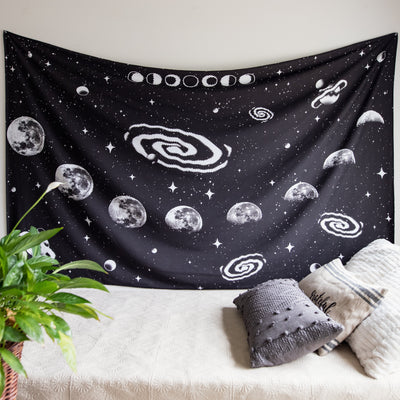 Graphic Moon Phase Tapestry