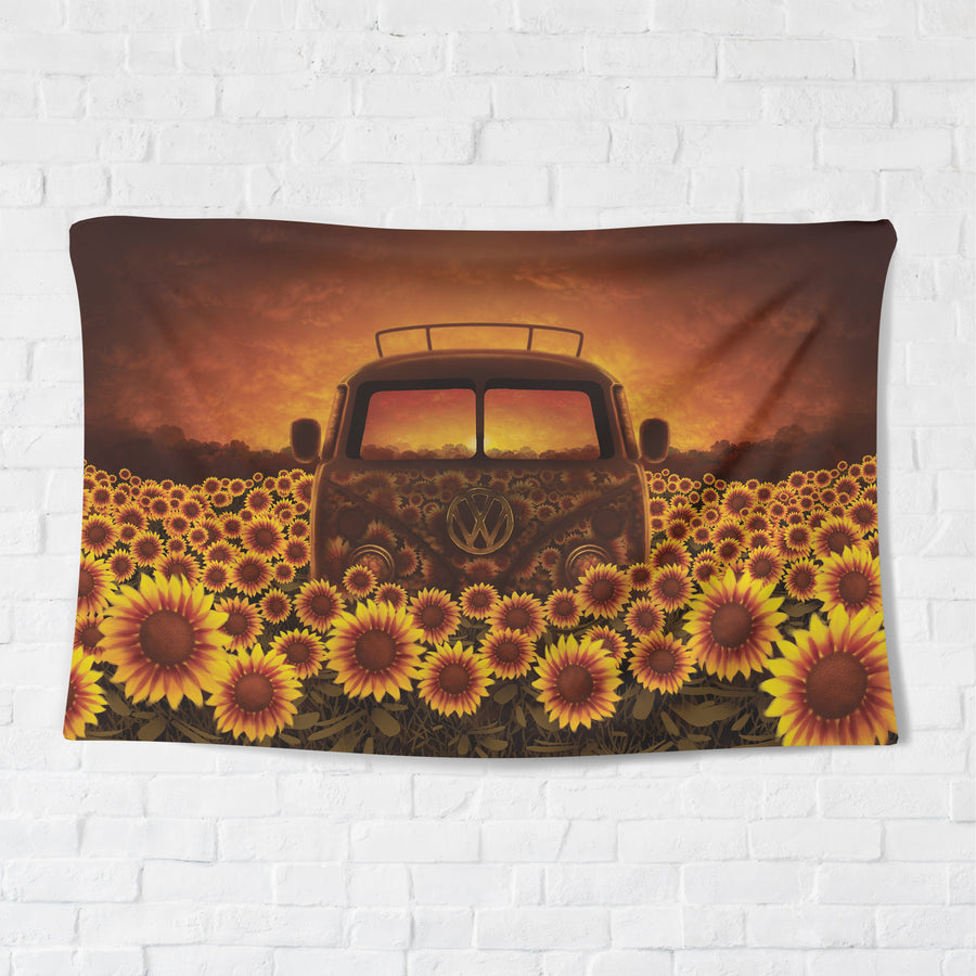 Sunflower Trip Tapestry