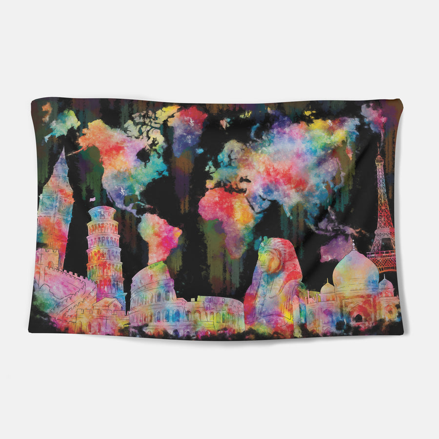 Vibrant World Tapestry
