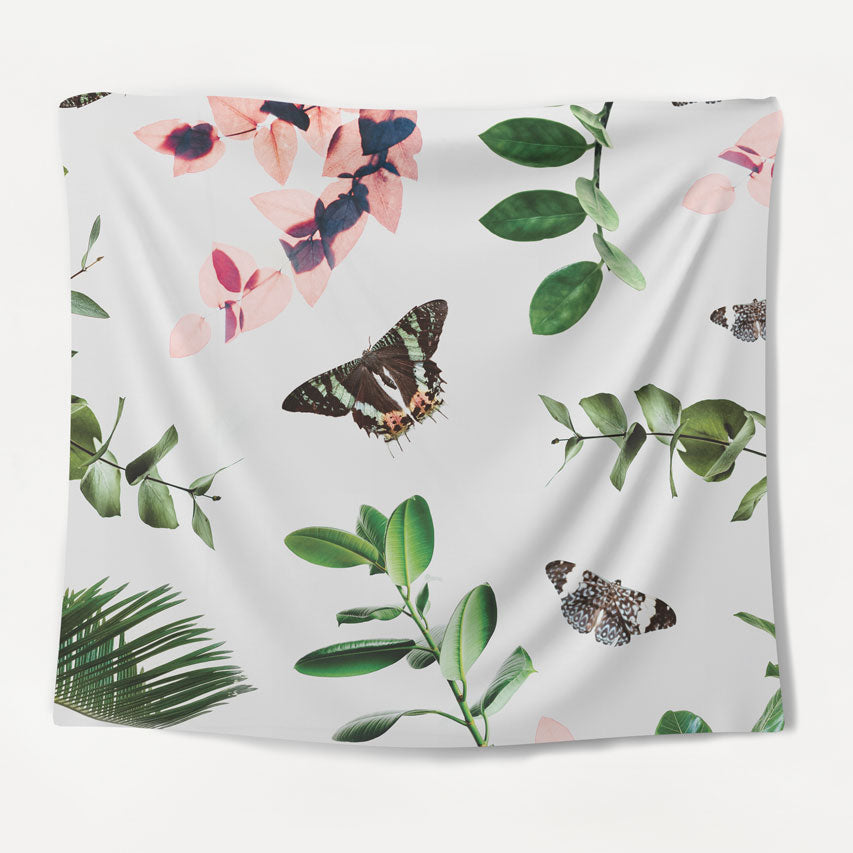 Botanical Butterflies Tapestry