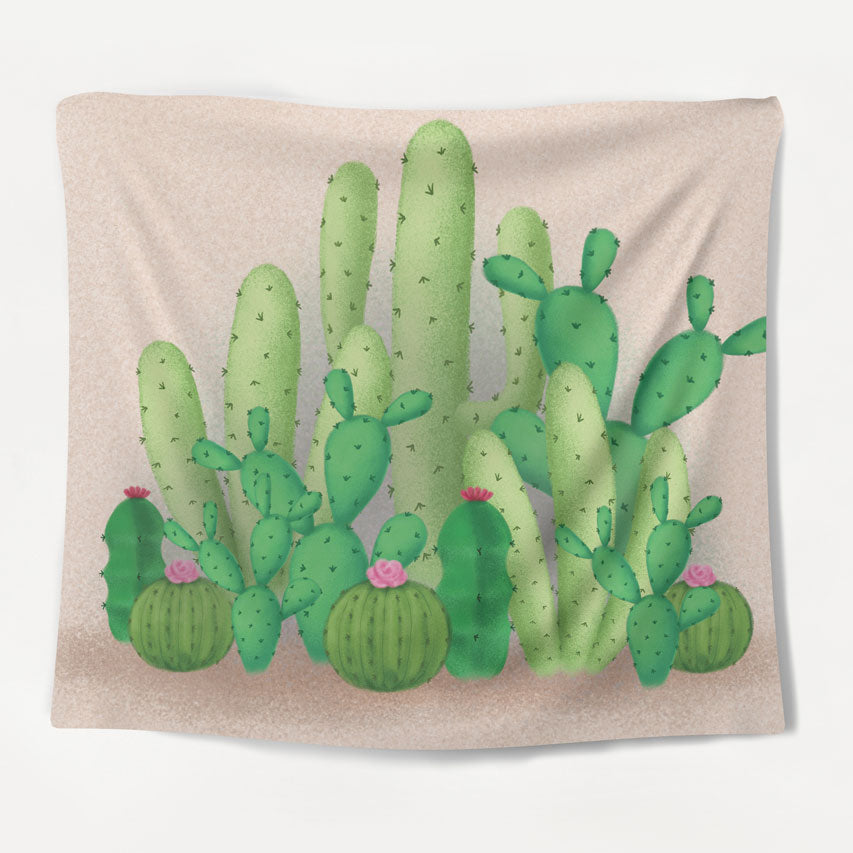 Cactus Friends Tapestry
