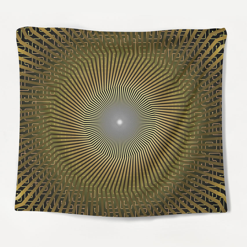 Hypnotic Geometry Tapestry