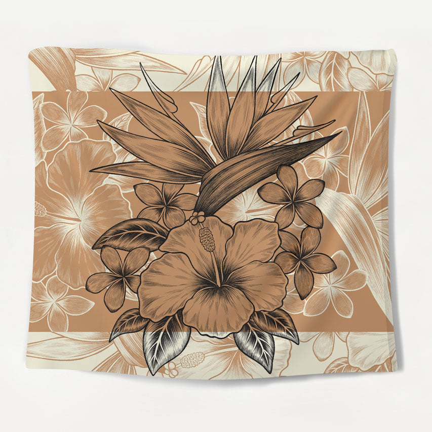 Island Flowers Tapestry