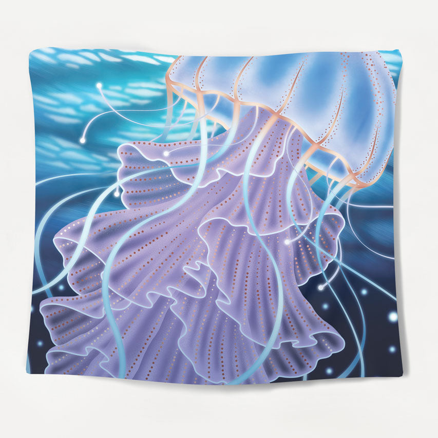 Majestic Jellyfish Tapestry