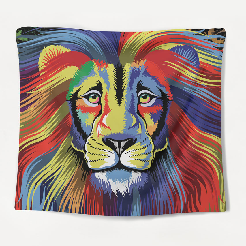 Majestic Lion Tapestry