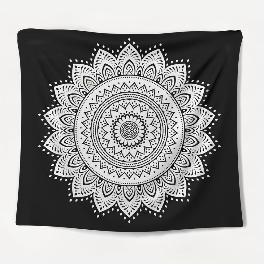 Midnight Mandala Tapestry