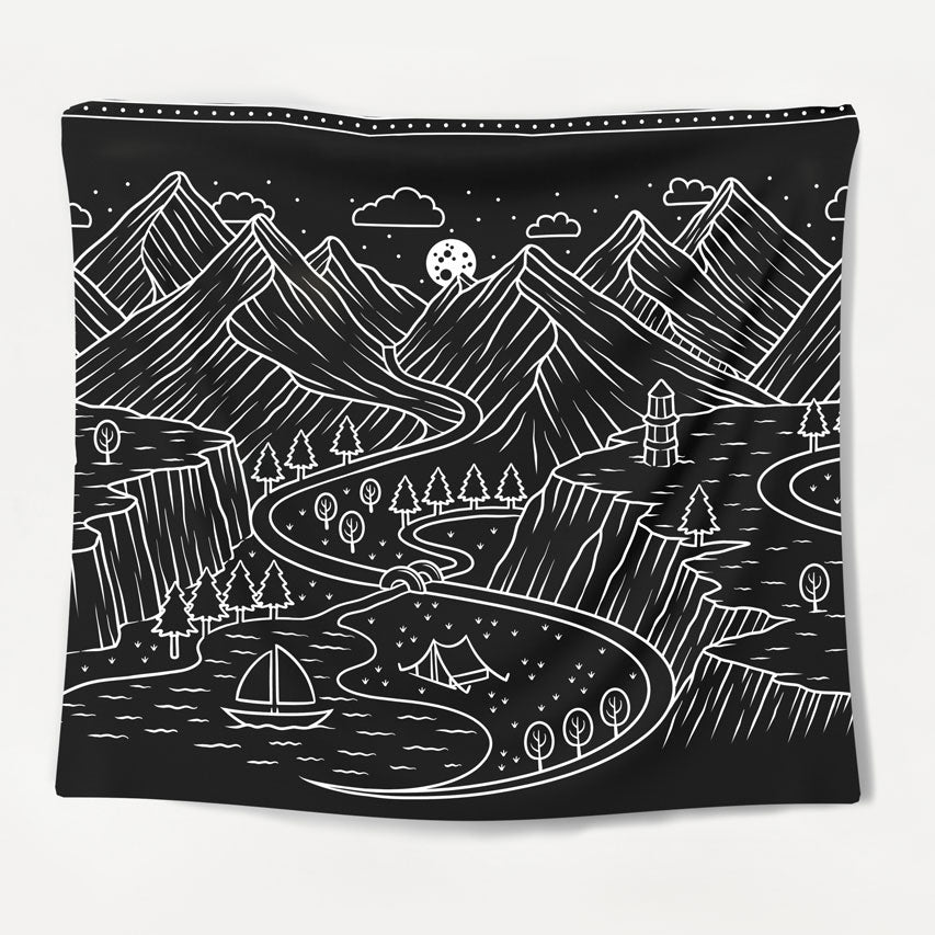 Monochrome Nature Tapestry