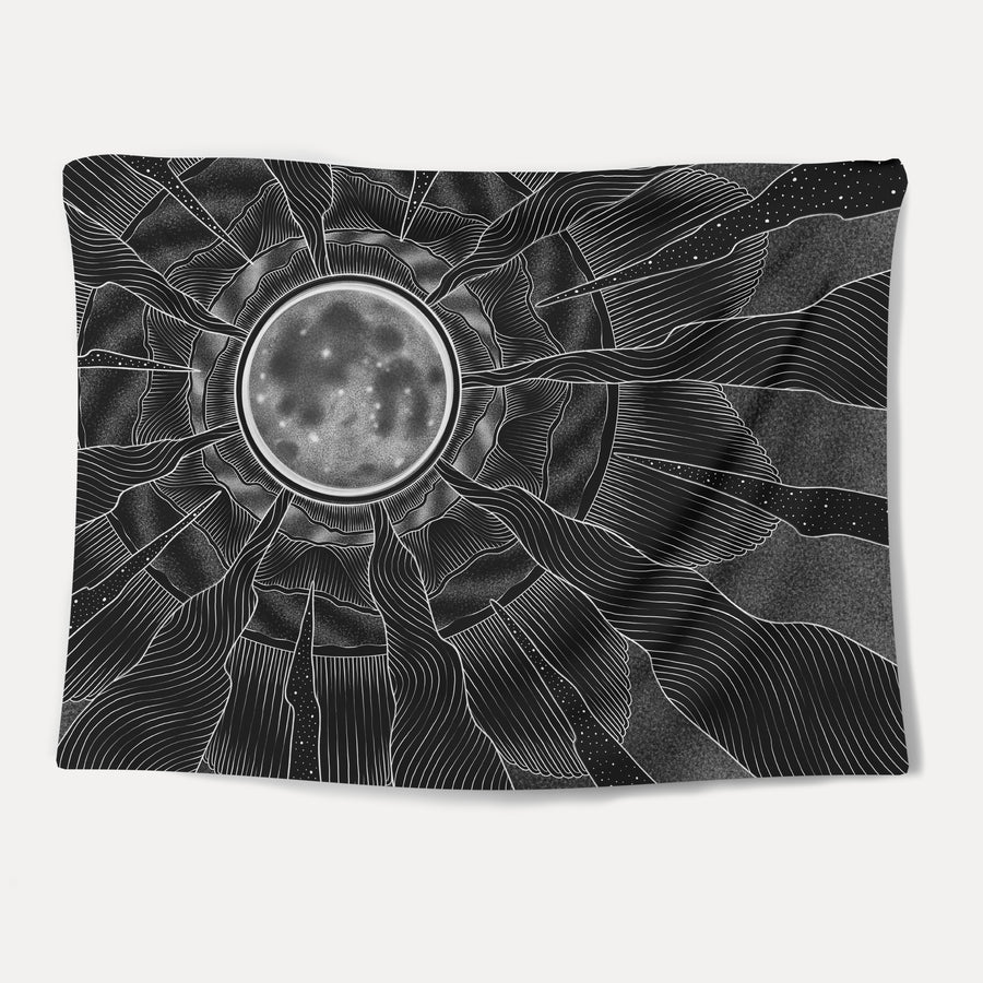 Moon Waves Tapestry