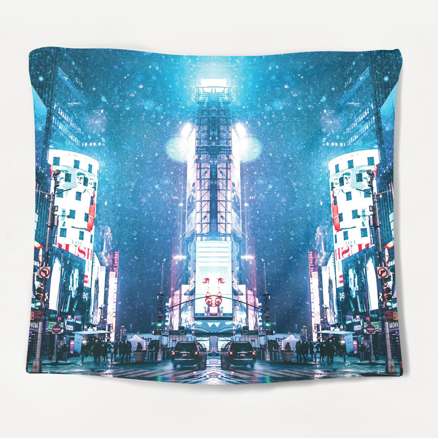 Neon Nightlife Tapestry