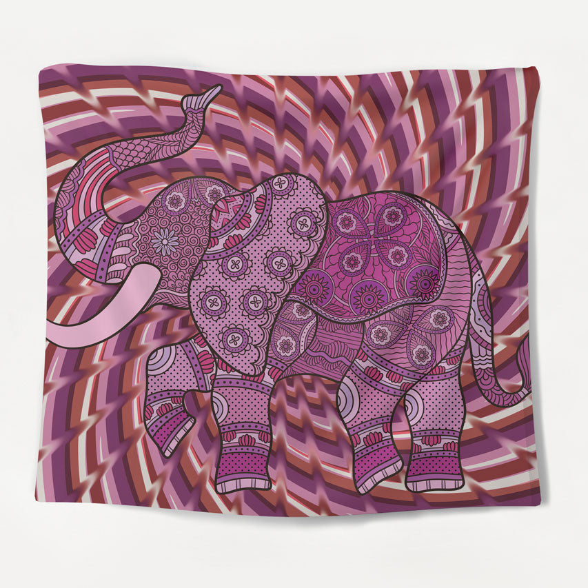 Psychedelic Dancing Elephant Tapestry