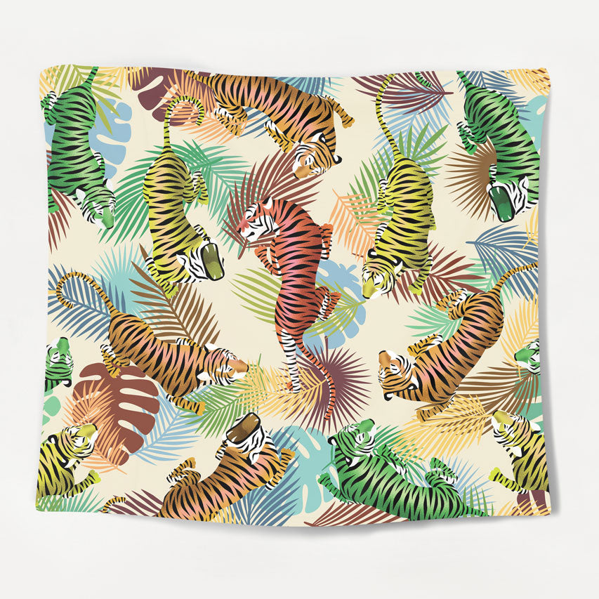 Rainbow Tiger Tapestry