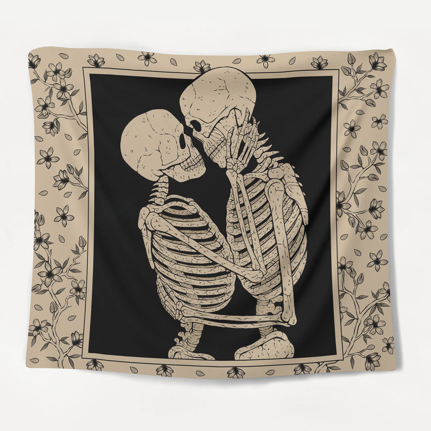 Skeletal Bloom Tapestry
