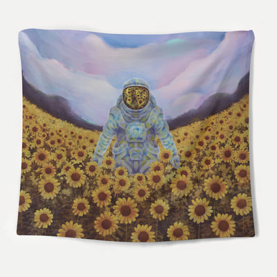 Sunflower Explorer Tapestry