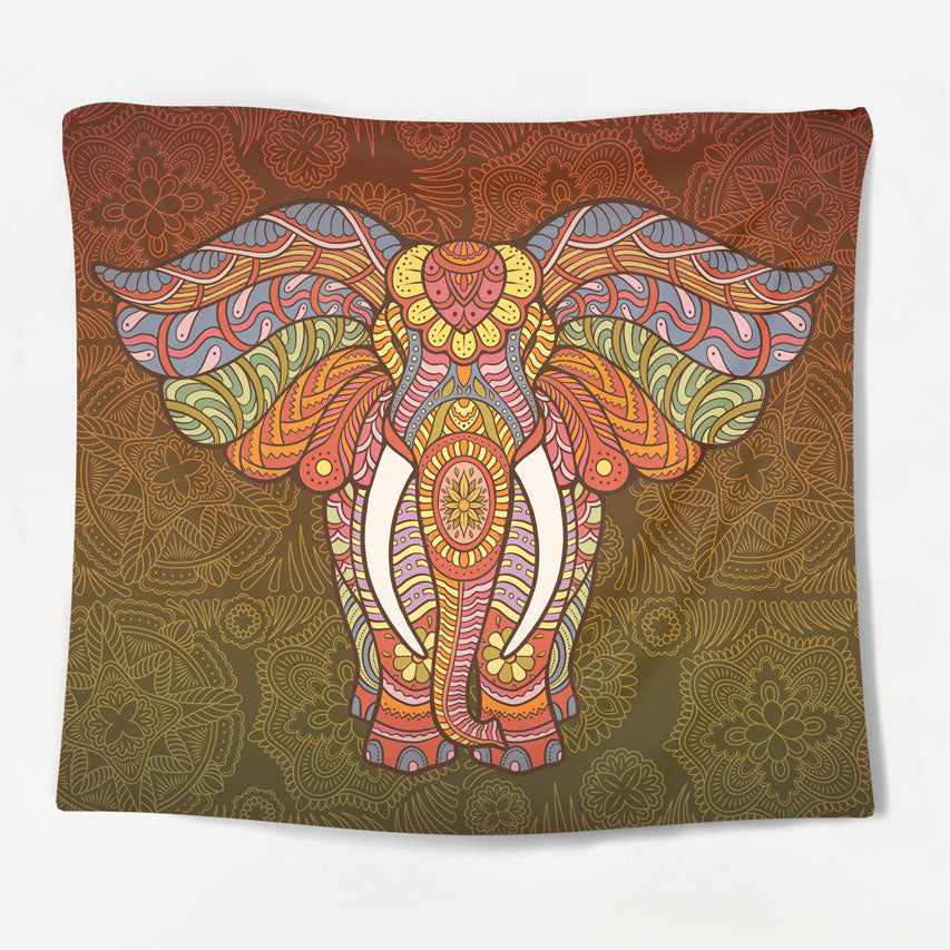 Sunset Elephant Tapestry