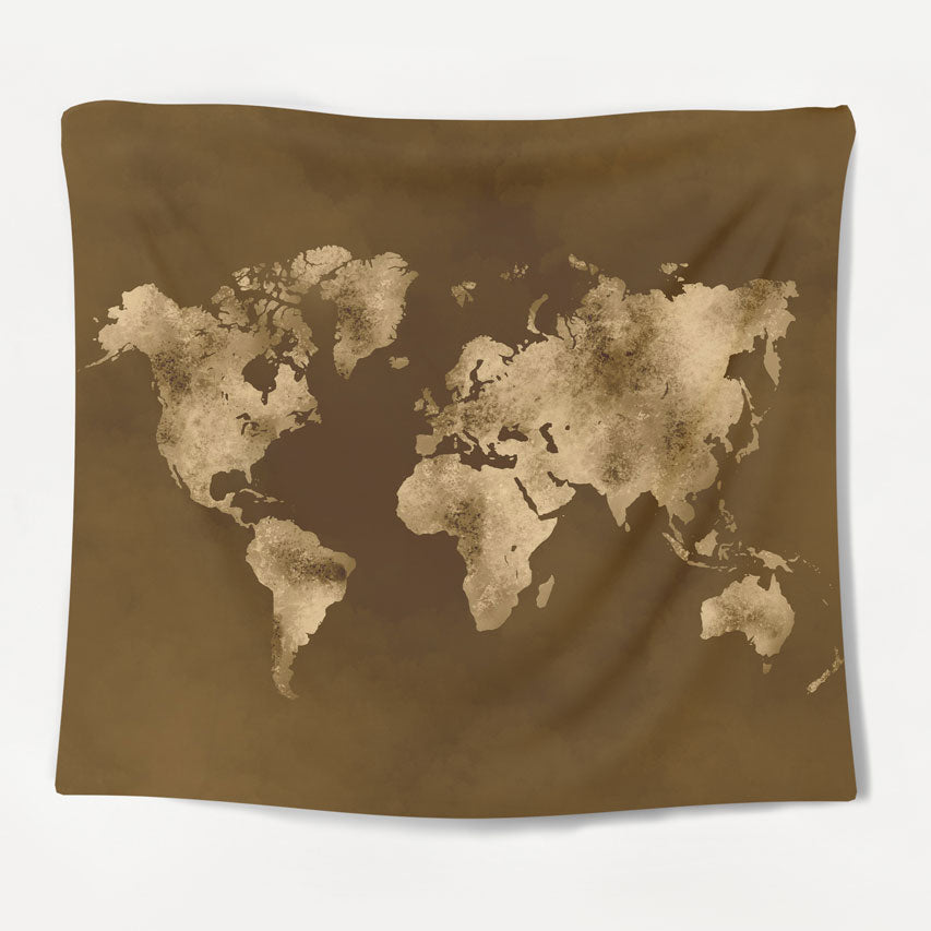 Vintage Map Tapestry
